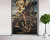St. Michael Overwhelming the Demon, 1518 (oil on canvas) wall mural in-room view