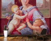 The Aldobrandini Madonna or The Garvagh Madonna (oil on panel), c.1509-10 wallpaper mural kitchen preview