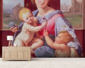 The Aldobrandini Madonna or The Garvagh Madonna (oil on panel), c.1509-10 wallpaper mural living room preview