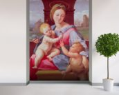 The Aldobrandini Madonna or The Garvagh Madonna (oil on panel), c.1509-10 wallpaper mural in-room view