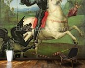 St. George Struggling with the Dragon, c.1503-05 (oil on panel) (see also 95727) mural wallpaper kitchen preview