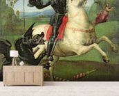 St. George Struggling with the Dragon, c.1503-05 (oil on panel) (see also 95727) mural wallpaper living room preview