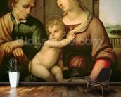 The Holy Family, 1506 (oil on canvas) wall mural kitchen preview