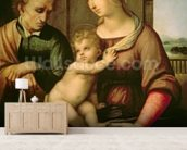 The Holy Family, 1506 (oil on canvas) wall mural living room preview