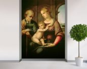 The Holy Family, 1506 (oil on canvas) wall mural in-room view