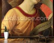 Angel, from the polyptych of St. Nicolas of Tolentino, 1501 (oil on panel) mural wallpaper kitchen preview