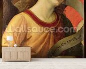 Angel, from the polyptych of St. Nicolas of Tolentino, 1501 (oil on panel) mural wallpaper living room preview