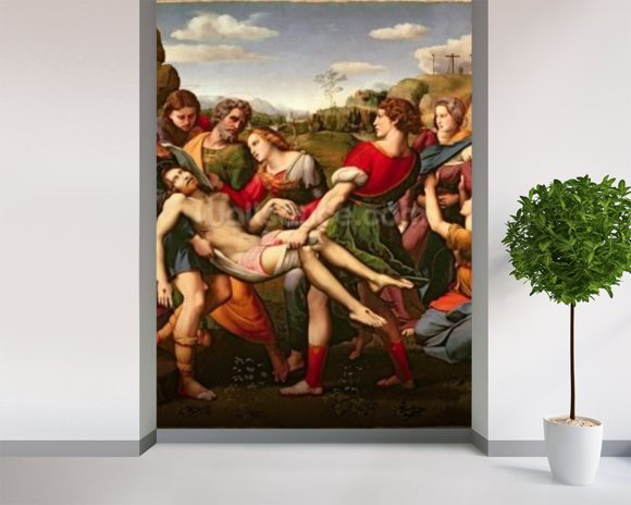 The Deposition, 1507 (oil on panel) wall mural room setting