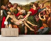 The Deposition, 1507 (oil on panel) wall mural living room preview
