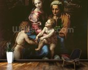 The Holy Family (La Perla) c.1518 (oil on panel) mural wallpaper kitchen preview