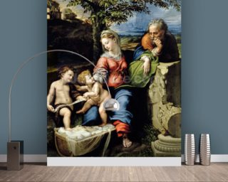 The Holy Family of the Oak Tree, c.1518 (oil on panel) wall mural