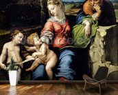 The Holy Family of the Oak Tree, c.1518 (oil on panel) wall mural kitchen preview