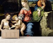 The Holy Family of the Oak Tree, c.1518 (oil on panel) wall mural living room preview