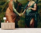 The Visitation wallpaper mural living room preview