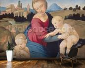 The Esterhazy Madonna, c.1507-08 (tempera & oil on poplar panel) mural wallpaper kitchen preview