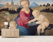 The Esterhazy Madonna, c.1507-08 (tempera & oil on poplar panel) mural wallpaper living room preview