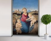The Esterhazy Madonna, c.1507-08 (tempera & oil on poplar panel) mural wallpaper in-room view