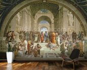 School of Athens, from the Stanza della Segnatura, 1510-11 (fresco) wall mural kitchen preview