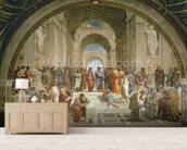 School of Athens, from the Stanza della Segnatura, 1510-11 (fresco) wall mural living room preview