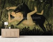 Beauty and the Beast, c.1908 (oil on canvas) wall mural living room preview