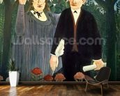 The Muse Inspiring the Poet, 1909 (oil on canvas) mural wallpaper kitchen preview