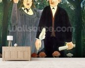 The Muse Inspiring the Poet, 1909 (oil on canvas) mural wallpaper living room preview
