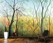 The Walk in the Forest, 1886-90 (oil on canvas) wall mural kitchen preview