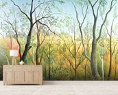The Walk in the Forest, 1886-90 (oil on canvas) wall mural living room preview