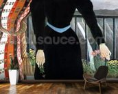 Portrait of a Woman, 1895 (oil on canvas) mural wallpaper kitchen preview