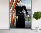 Portrait of a Woman, 1895 (oil on canvas) mural wallpaper in-room view