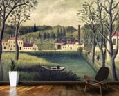Landscape with a Fisherman, after 1886 (oil on canvas) wall mural kitchen preview