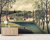 Landscape with a Fisherman, after 1886 (oil on canvas) wall mural living room preview