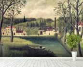 Landscape with a Fisherman, after 1886 (oil on canvas) wall mural in-room view