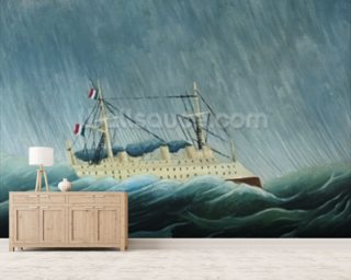 The storm-tossed vessel, c.1899 (oil on canvas) wall mural