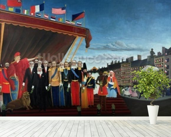 The Representatives of Foreign Powers Coming to Salute the Republic as a Sign of Peace, 1907 (oil on canvas) mural wallpaper room setting