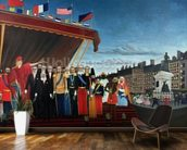 The Representatives of Foreign Powers Coming to Salute the Republic as a Sign of Peace, 1907 (oil on canvas) mural wallpaper kitchen preview