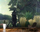 The Snake Charmer, 1907 (La Charmeuse de serpents) (oil on canvas) wall mural kitchen preview