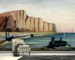 Cliffs, c.1897 (oil on canvas) wallpaper mural