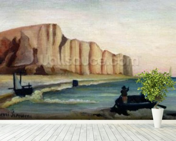 Cliffs, c.1897 (oil on canvas) wallpaper mural room setting