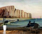 Cliffs, c.1897 (oil on canvas) wallpaper mural kitchen preview