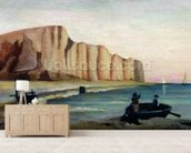 Cliffs, c.1897 (oil on canvas) wallpaper mural living room preview