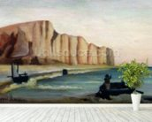 Cliffs, c.1897 (oil on canvas) wallpaper mural in-room view
