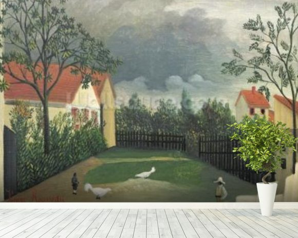The Farm Yard, 1896-98 (oil on canvas) wall mural room setting