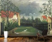 The Farm Yard, 1896-98 (oil on canvas) wall mural kitchen preview