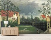 The Farm Yard, 1896-98 (oil on canvas) wall mural living room preview