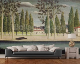 By the River 1890 Wall Mural Wallpaper Wall Murals Wallpaper