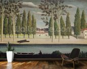 By the River, c.1890 (oil on canvas) wall mural kitchen preview