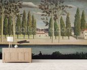 By the River, c.1890 (oil on canvas) wall mural living room preview