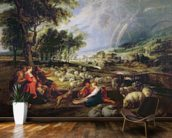 Landscape with a Rainbow (oil on canvas) wallpaper mural kitchen preview
