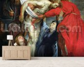 The Descent from the Cross, c.1614-15 (oil on canvas) wall mural living room preview